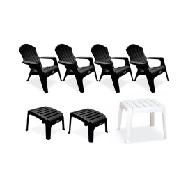 4 Sillones Country/2 Posapies Negro…