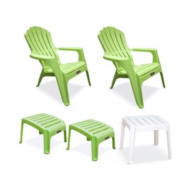 2 Sillones Country/2 Posapies Verde…