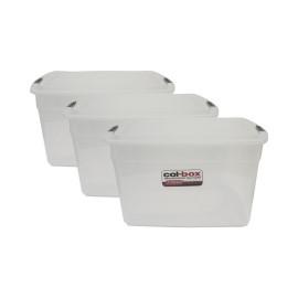3 Cajas Plastica Organizadora Apila…